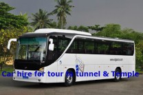car hire to cu chi tunnel - temple